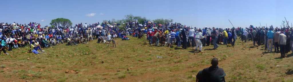 Gold mine workers united during the 2012 strike.